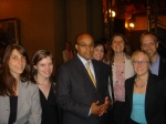 After an all-day lobbying spree, members of Lawyers for Green Jobs met with Senator Antoine Thompson (D-Parts of Erie and Niagara Counties) after he decided to sponsor the bill (Jason Wiener missing)